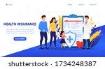family health insurance concept.... | Shutterstock .eps vector #1734248387