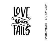 love never fails christian...   Shutterstock .eps vector #1734249824