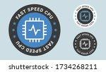 fast speed cpu stamp vector... | Shutterstock .eps vector #1734268211