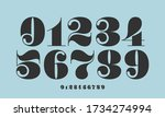 number font. font of numbers in ... | Shutterstock .eps vector #1734274994