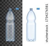 realistic plastic water bottle... | Shutterstock .eps vector #1734276581