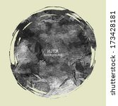 art sketched black circle frame ... | Shutterstock .eps vector #173428181