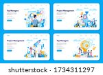 business top management web... | Shutterstock .eps vector #1734311297