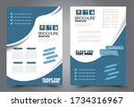 flyer template. brochure for... | Shutterstock .eps vector #1734316967
