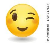 Winking Emoji Vector Art...