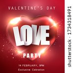 love party background.... | Shutterstock .eps vector #1734318491