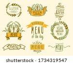 menu headlines  emblems or... | Shutterstock .eps vector #1734319547