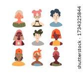 children of different races...   Shutterstock .eps vector #1734325844