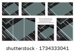 collection of colorful gray... | Shutterstock .eps vector #1734333041