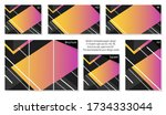 collection of colorful yellow... | Shutterstock .eps vector #1734333044