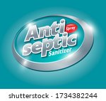 antiseptic logo and label.... | Shutterstock .eps vector #1734382244