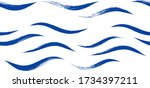 seamless wave pattern  hand... | Shutterstock .eps vector #1734397211