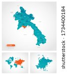 editable template of map of... | Shutterstock .eps vector #1734400184
