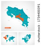 editable template of map of... | Shutterstock .eps vector #1734400391