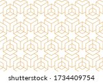 the geometric pattern with... | Shutterstock .eps vector #1734409754