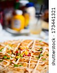 Close up of delicious lobster quesadillas - stock photo