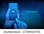 coaching and mentoring concept... | Shutterstock .eps vector #1734416741