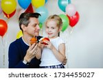 Dad And Daughter Celebrate A...