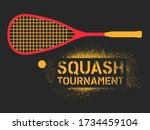 squash tournament typographical ... | Shutterstock .eps vector #1734459104