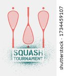 squash tournament typographical ... | Shutterstock .eps vector #1734459107