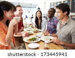 group of friends meeting for... | Shutterstock . vector #173445941