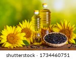 rural still life   sunflower... | Shutterstock . vector #1734460751