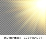 sun light on transparent... | Shutterstock .eps vector #1734464774