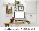 the office of a creative... | Shutterstock . vector #173449544
