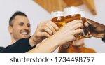 Group Of Friends Enjoying Beer...