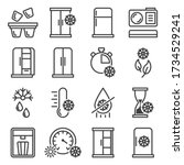a set of icons of refrigerators ...   Shutterstock .eps vector #1734529241