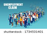 vector of a crowd of people of... | Shutterstock .eps vector #1734531401