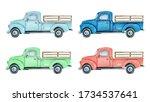 Watercolor Pickup Truck...