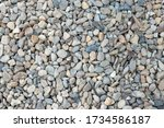 Pebbles Background With Dry...