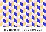 3d Cubes Seamless Pattern...