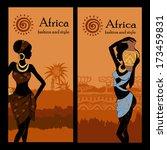 banner set of travel. tropical...   Shutterstock .eps vector #173459831