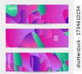 abstract vector wavy pattern... | Shutterstock .eps vector #1734610154