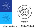 car brake line art vector icon. ...