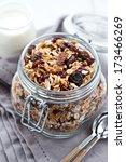 granola in a jar | Shutterstock . vector #173466269