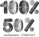 vector mechanical number. | Shutterstock .eps vector #173467217