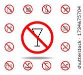 forbidden drinking  tea icon....