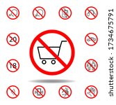 forbidden shopping car icon....
