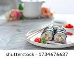 Sushi Rolls Asian Food Stylish...