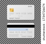 white credit card mockup.... | Shutterstock .eps vector #1734726674
