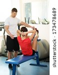 personal fitness trainer... | Shutterstock . vector #173478689