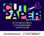 Set Of Colorful Paper Cut...