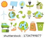 set of earth day. collection of ... | Shutterstock .eps vector #1734799877