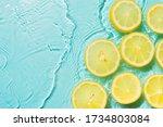 Slice Of Lemon Underwater Or In ...