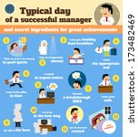 business life. manager schedule ... | Shutterstock .eps vector #173482469