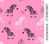 bright children's pattern with... | Shutterstock .eps vector #1734833867