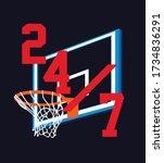 basketball graphic design for t ... | Shutterstock .eps vector #1734836291